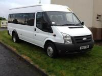 2007 1 owner ex school Ford TRANSIT 100 17-SEAT Minibus 2.4tdci 140bhp coif Psv