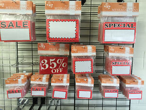 Sale sign, sale tags, price tags, s hook