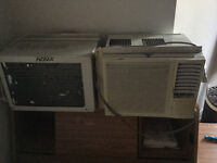2 excellent barely used air conditioners
