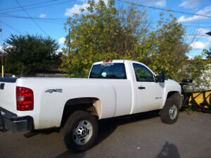 2011 Chevrolet HD Pickup Truck with Fisher 2016 8.5' v-plow