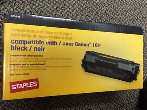 Staples toner Cartridge (compatible with Canon 104) Black