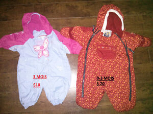 Manteaux de bébé