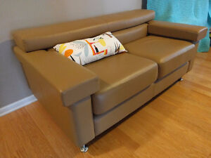 Selene Custom-Made Tan Leather Couch Couches Sofa Love Seat