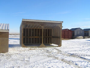 Horse & cow calf Shelters.