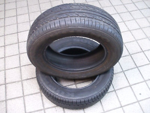 "Lightly used 15"" radial tires c/w rims"