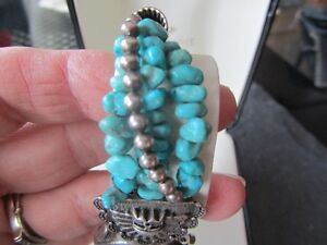 Genuine Turquoise stones and Sterling Silver Watch Peterborough Peterborough Area image 5