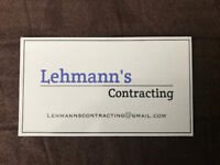 Lehmann's Contracting - We Don't Shy Away From Any Job.