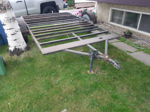 8x10 flate bed home made trailer.