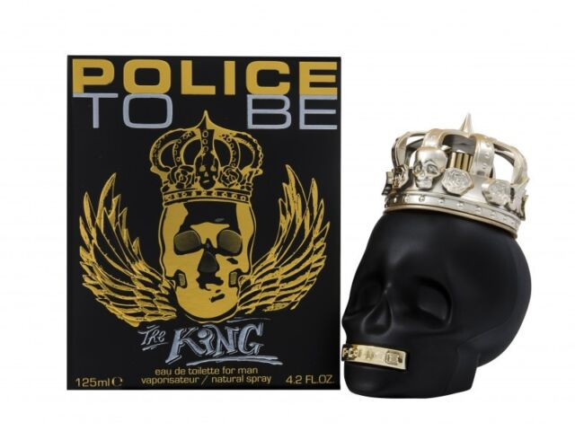 POLICE TO BE THE KING EAU DE TOILETTE 125ML SPRAY - MEN'S FOR HIM. NEW