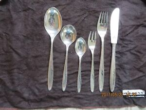 12 pcs cutlery set silver