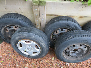 Winter Tires Set of 5 ON RIMS from 2006 Grand Caravan 275 Cambridge Kitchener Area image 4