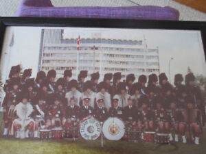 Vintage photo of the Calgary City Police  Pipe Band