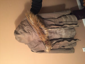 Women's Warm Winter Jacket with Faux Fur lining only Year old! Windsor Region Ontario image 2
