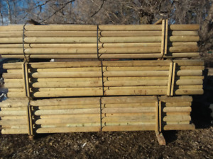 """12 foot 4.5"""" rails, 2x6x14 and 2x6x16 brown treated lifts, wrap"""