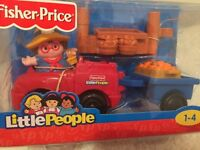 Fisher price little people Maggie truck & trailer NEW