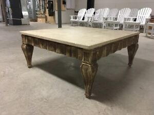 Large Thick Marble Top Coffee Table
