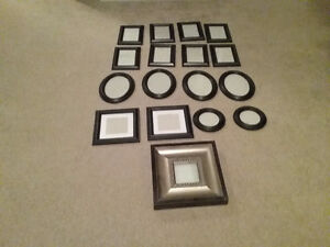 Set of 17 picture frames