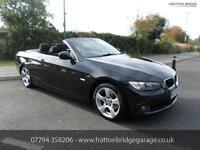 BMW 3 SERIES 320D SE Diesel Auto Convertible F.S.H Low Miles, Black, Auto, Diese