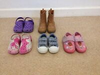 6 pairs of girl's shoes size5&6.