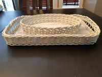 European Style Serving Tray and Bread Basket