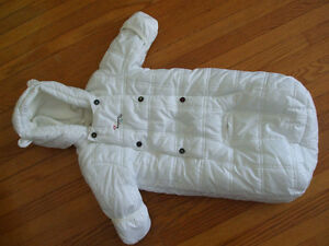 Mexx white baby winter snuggler coat