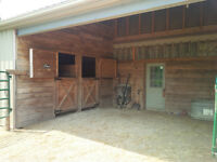 Horse Barn/Hay Storage/Paddock and Pasture for rent