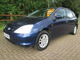 02/02 HONDA CIVIC 1.7 CDTI SE 5DR HATCH IN BLUE (P/X TO CLEAR, MOT JUNE 2017)
