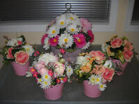 Centerpieces for a Garden Wedding or Tea Party
