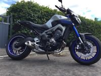 Yamaha MT09 2015 ABS Silver LOW MILEAGE 1 OWNER