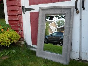 ***FANTASTIC*** ANTIQUE LOOKING FRENCH METAL MIRROR