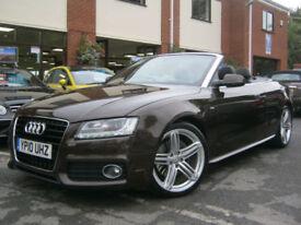 2010 10-Reg Audi A5 3.0TDI Auto quattro S Line Convertible,RARE TEAK BROWN,LOOK!