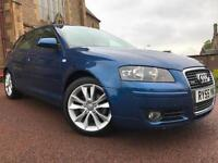 *3 MTHS WARRANTY*2006 AUDI A3 SPORTS TDI QUATTRO(140BHP)5DR FULL LEATHER*