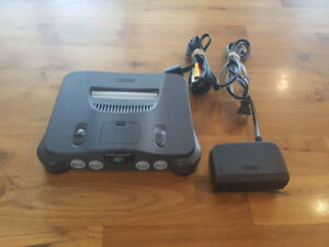 Nintendo 64 System with cords