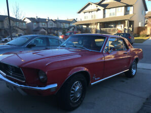 1968 MUSTANG 2 DR COUPE  STREET PERFORMANCE REBUILD  V8 351 WIND