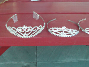 Sparkly TIERAS (like beauty queen crown wrap around)