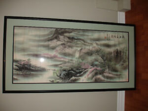 For sale - very large framed oriental picture (1).