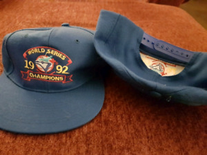 Vintage 1992 World Series baseball caps