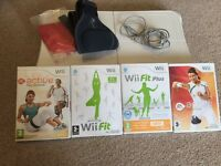 Nintendo wii fit board and games