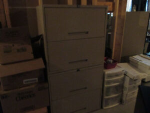 Qty. Two Four Drawer Metal Filing Cabinets both for only $150