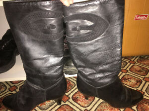 Womens leather boots size 8