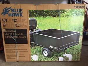 Lawn tractor cart and spreader