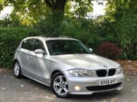 2005 Silver BMW 120D Sport Auto 5 Door Diesel 2.0 Automatic Leather Interior