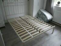NEXT Double bed frame Cream and Brass