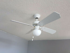 Beautiful white ceiling fan