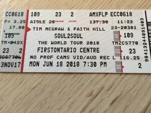 Tim McGraw  & Faith Hill Tickets Hamilton