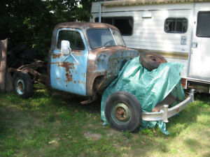 Western 1953 gmc 1/2 ton pickup, complete less box, sell/trade