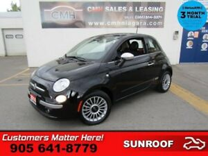 2014 Fiat 500 Lounge  RED LEATHER HS BT BEATS-AUDIO PREM-WHEELS