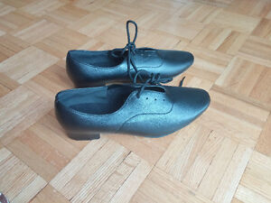 Men's Dance Shoes Salsa / Samba Leatherette Chunky Heel Black