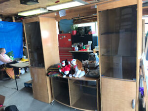 Side China cabinets with lower tv cabinet