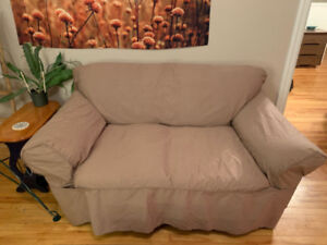 Beige Couch Cover